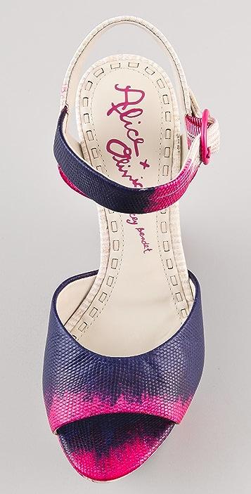 alice + olivia Jana Tie Dye Sandals