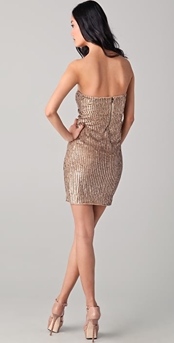 alice + olivia Rigby Sequined Strapless Tube Dress