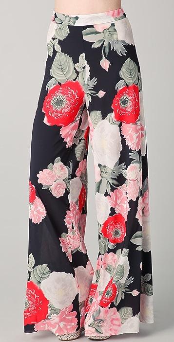 alice + olivia Print Wide Leg Pants