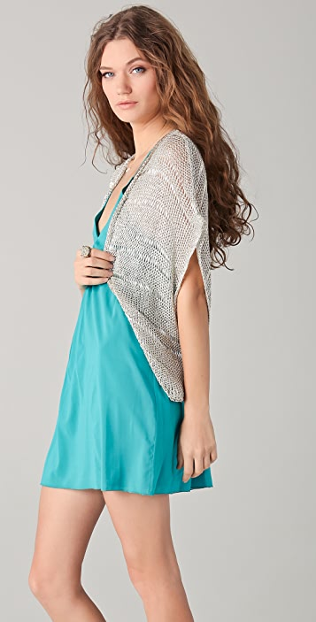 alice + olivia Leonie Metallic Shrug