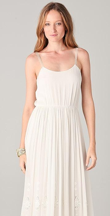 alice + olivia Christy Maxi Lace Tank Dress