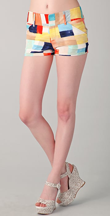alice + olivia Box Print Shorts