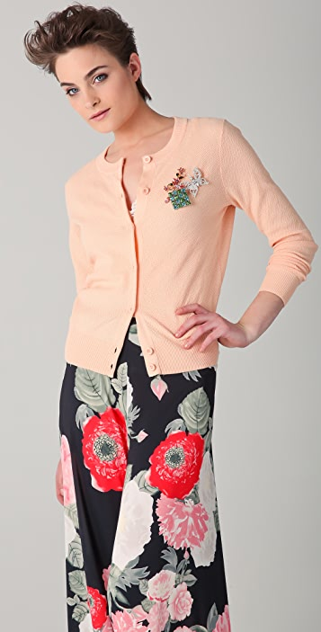 alice + olivia Cardigan Sweater with Pins
