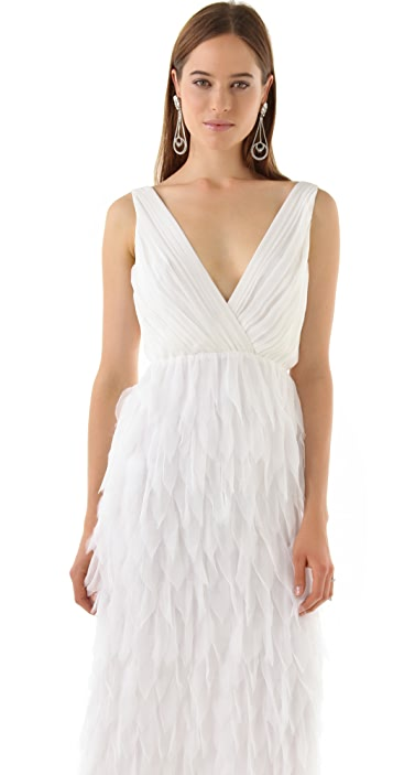 alice + olivia Tibby Petal Gown