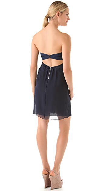alice + olivia Jocelyn Sweetheart Mini Flare Dress