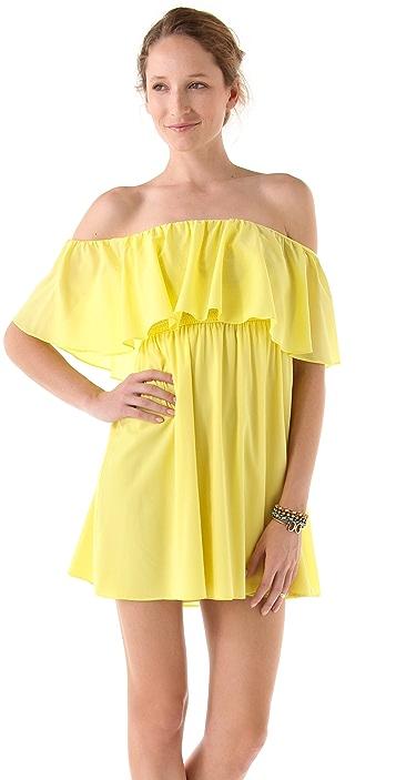 alice + olivia Shari Off Shoulder Dress