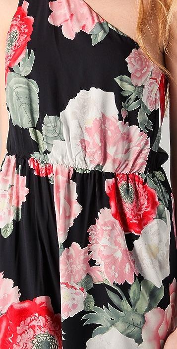 alice + olivia Beverly One Shoulder Jumpsuit
