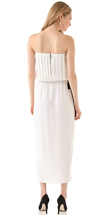 alice + olivia Maybelle Strapless Tie Dress
