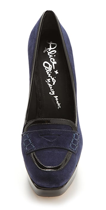 alice + olivia Saffi Cutout Loafer Pumps