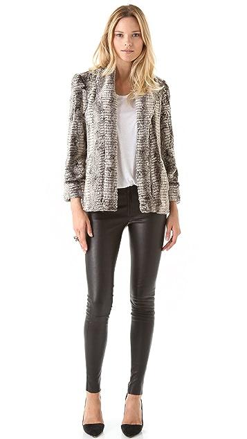 alice + olivia Leana Faux Fur Jacket