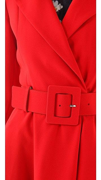 alice + olivia Loris Flare Coat