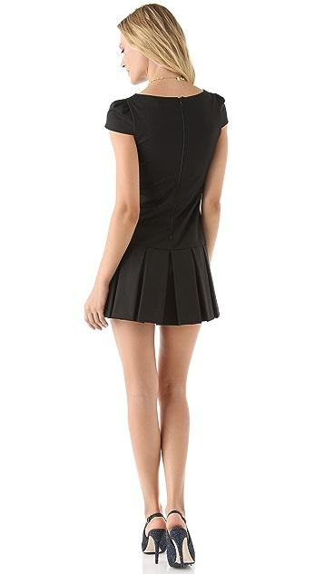 alice + olivia Demi Drop Waist Dress