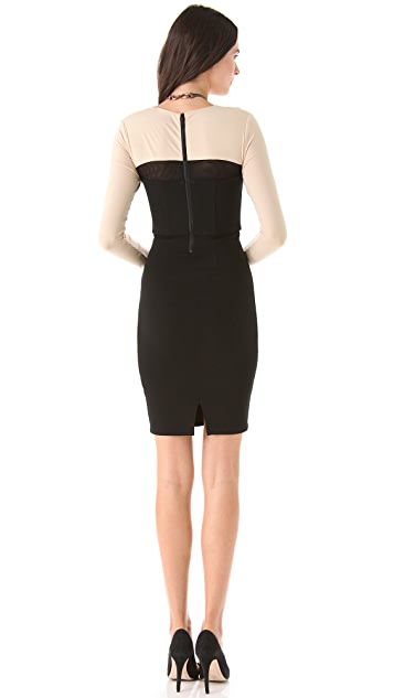 alice + olivia Rilo Square Neck Dress