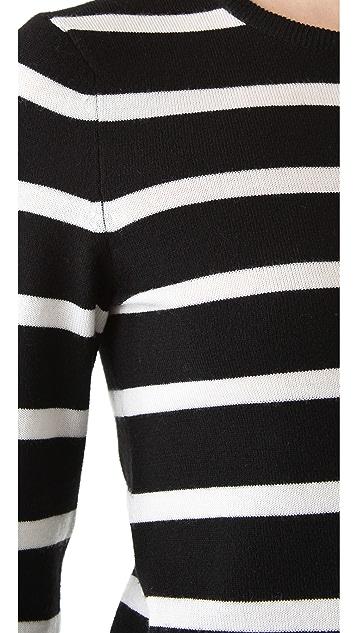 alice + olivia Shellen Nock Bowtie Sweater