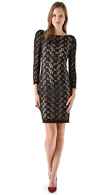 alice + olivia Dandi Keyhole Dress