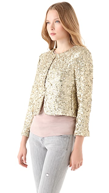alice + olivia Brianna Sequin Box Jacket