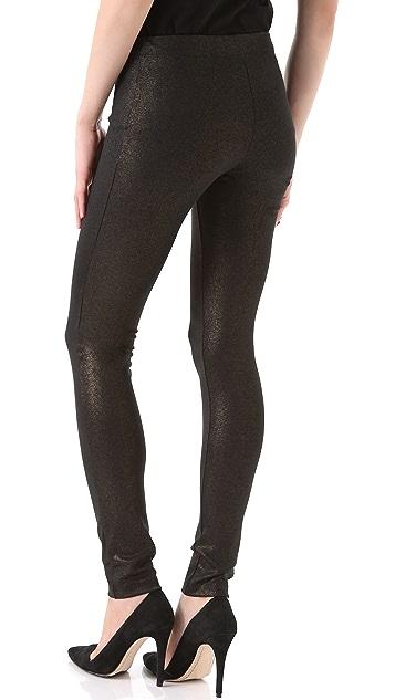 alice + olivia Exposed Front Zip Leggings