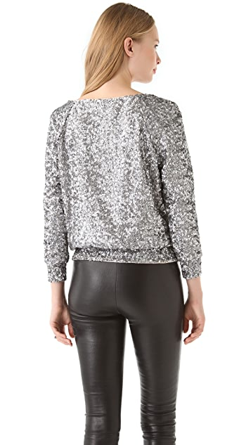 alice + olivia Evelina Sequined Sweatshirt