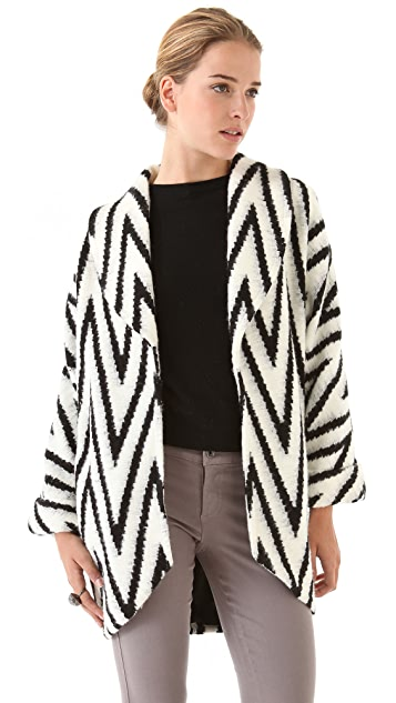 alice + olivia Lidell Wrap Jacket
