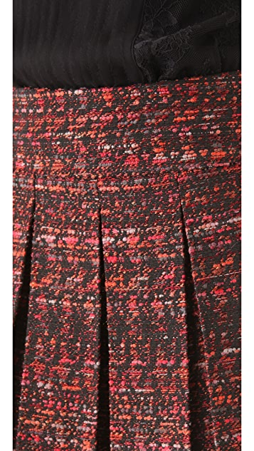 alice + olivia Houston Box Pleat Skirt