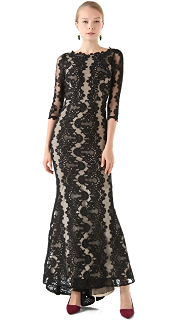 alice + olivia Jae Open Back Gown