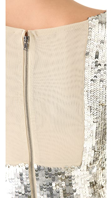 alice + olivia Abbey Sequin Dress