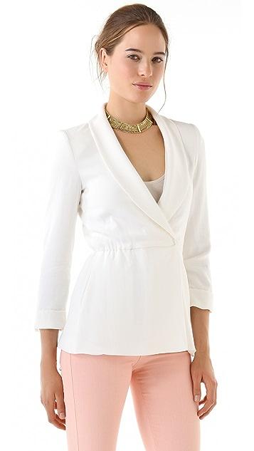 alice + olivia Landra Wrap Front Coat