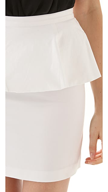 alice + olivia Carly Peplum Skirt