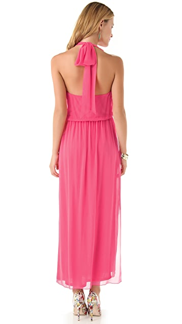 alice + olivia Halter Dress with Crossover