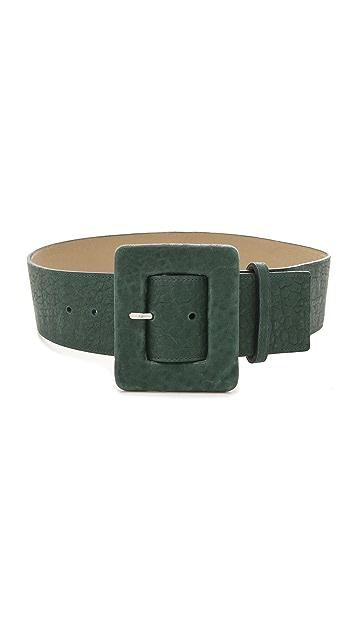 alice + olivia Bubble Leather Wide Belt