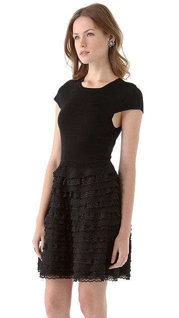 alice + olivia Colette Ruffle Dress