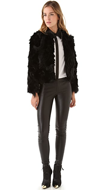 alice + olivia Verity Fur Jacket