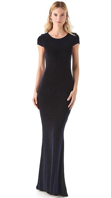 alice + olivia Lanie Open Back Dress