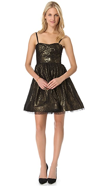alice + olivia Yelle Bustier Flare Dress