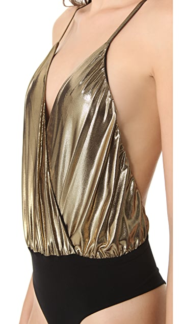 alice + olivia Metallic Ballerina Bodysuit