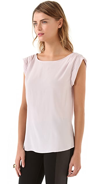 alice + olivia Rolled Sleeve Top