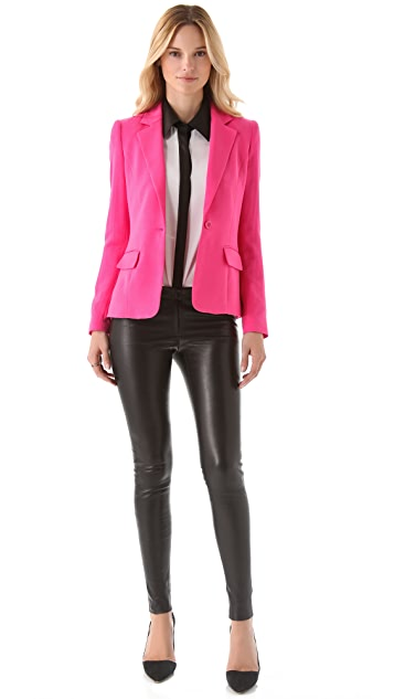 alice + olivia Elyse One Button Blazer