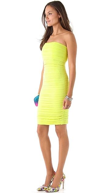 alice + olivia Venus Mid Length Ruched Dress