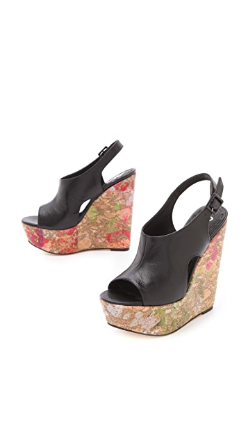 alice + olivia Sonia Splatter Paint Wedges
