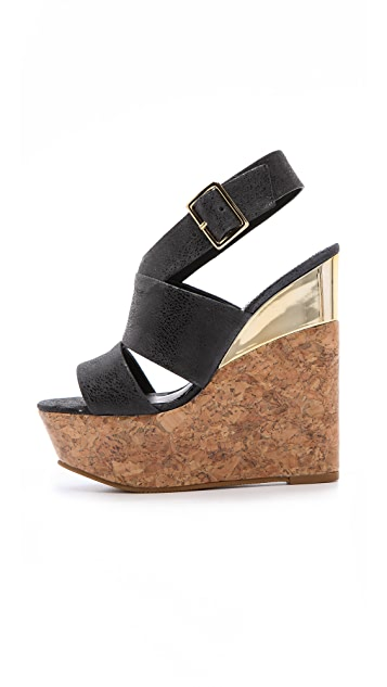 alice + olivia Steffie Wedge Sandals