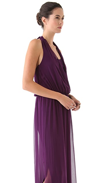 alice + olivia Wrap Front Maxi Dress