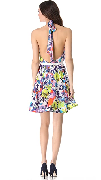 alice + olivia Brittlyn Floral Halter Dress