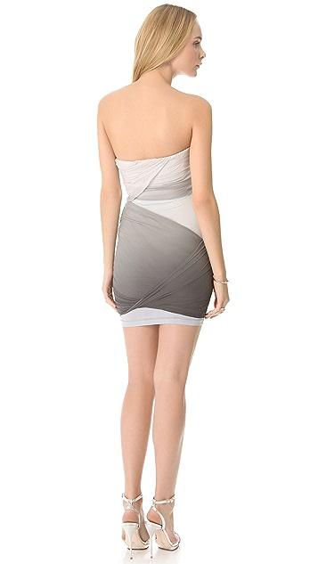 alice + olivia Tobi Drape Mini Dress