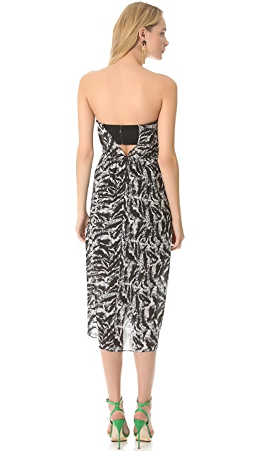 alice + olivia Raina Strapless Tulip Dress