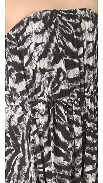 alice + olivia Raina Strapless Tulip Dress