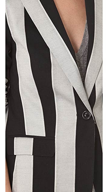 alice + olivia Striped Elyse Blazer