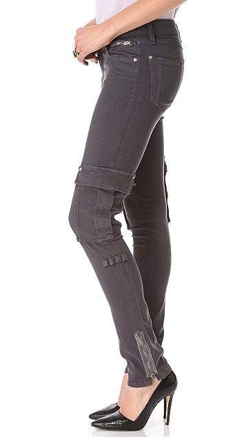 alice + olivia Skinny Zip Cargo Pants