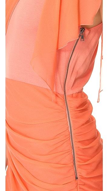 alice + olivia One Shoulder Drape Dress