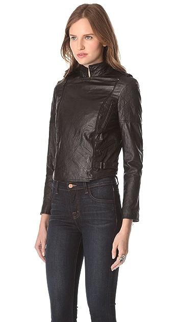 alice + olivia Quilted Zip Moto Jacket