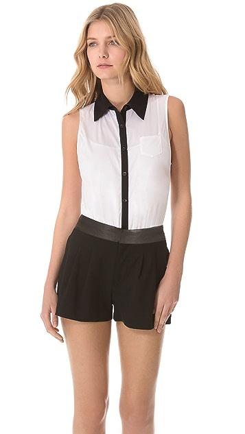 alice + olivia Sleeveless Combo Bodysuit